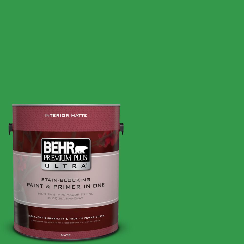BEHR Premium Plus Ultra 1 gal. #450B-6 Formal Garden Flat/Matte Interior Paint