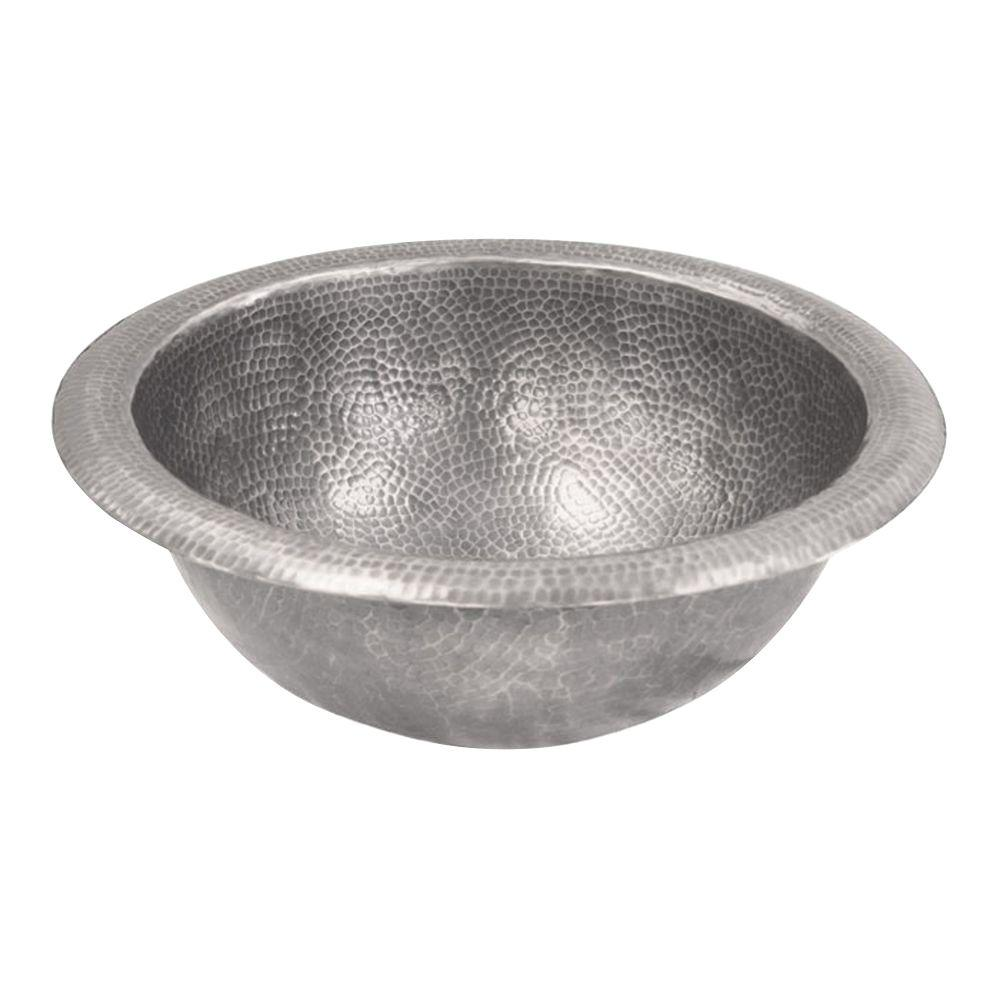 Barclay Products Undermounted Bathroom Sink in Hammered Pewter