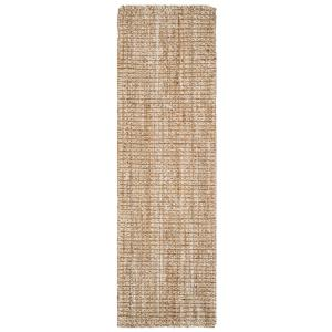 Natural Fiber Beige 3 ft. x 8 ft. Indoor Runner Rug