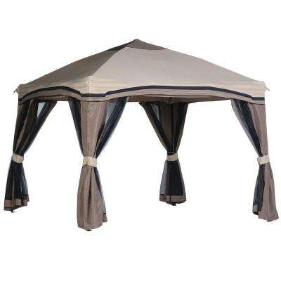 Pitched 10 ft. x 10 ft. Roof Line Portable Gazebo with Netting
