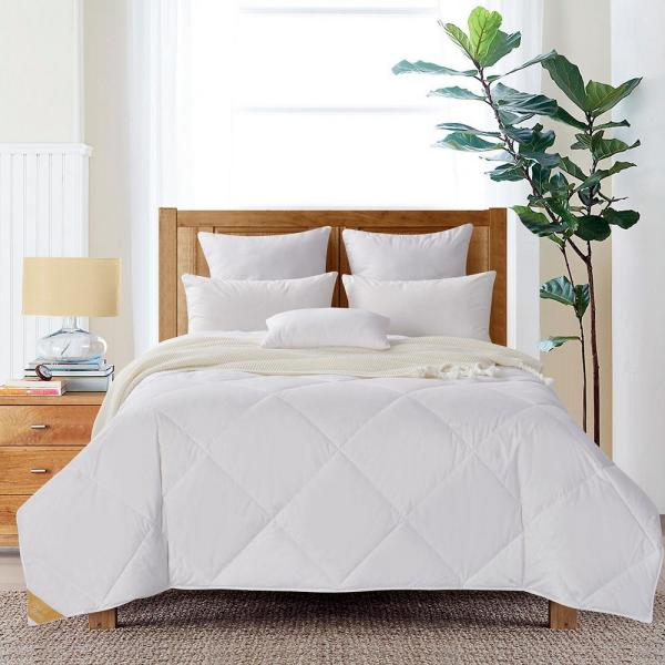 Summer Weight White King 50% White Goose Down Quilted Comforter
