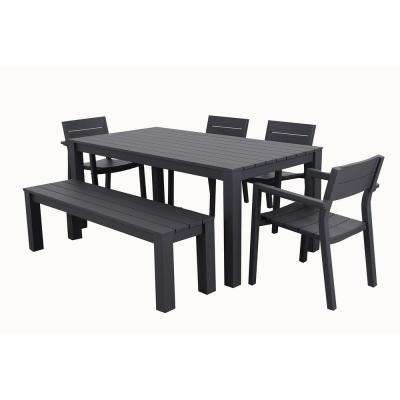 Cassara 6-Piece Aluminum Outdoor Dining Set