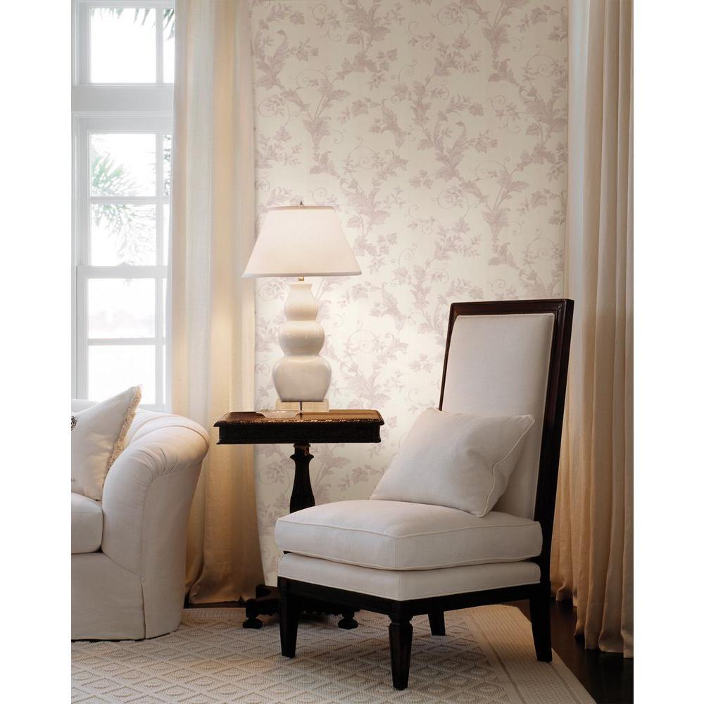 Royal Lavender Scroll Wallpaper