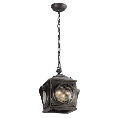 Main Street 2-Light Aged Pewter Outdoor Pendant
