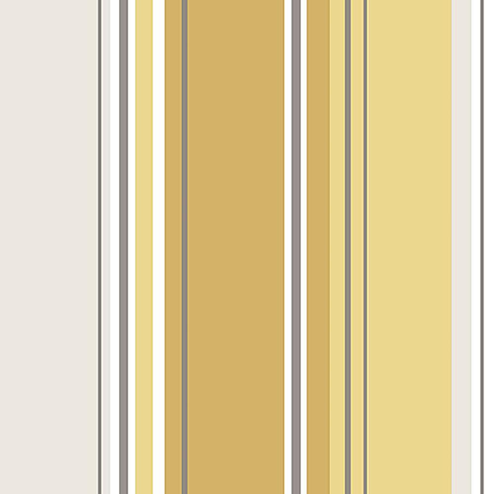 56.4 sq. ft. Energy Yellow Striped Wallpaper