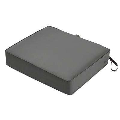 Montlake 25 in. W x 23 in. D x 5 in. Thick Light Charcoal Grey Rectangular Outdoor Seat Cushion