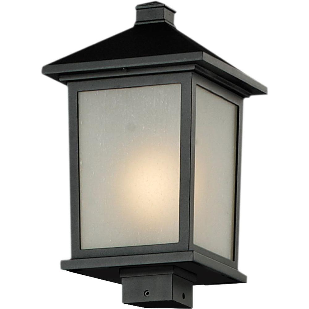 Lawrence 1-Light Black Incandescent Outdoor Post Light