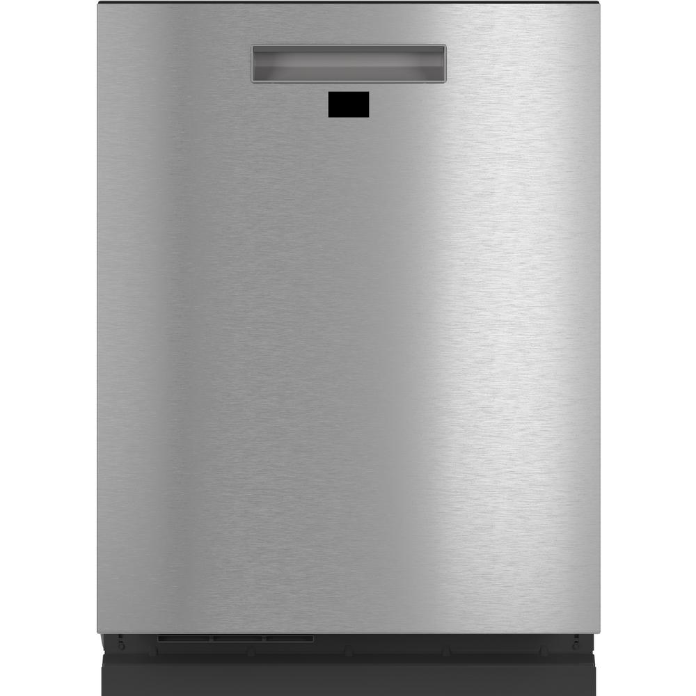 Cafe Smart Top Control Tall Tub Dishwasher in Platinum Glass with Stainless Steel Tub, 39 dBA