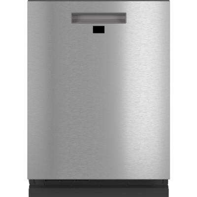 Smart Top Control Tall Tub Dishwasher in Platinum Glass with Stainless Steel Tub, 39 dBA
