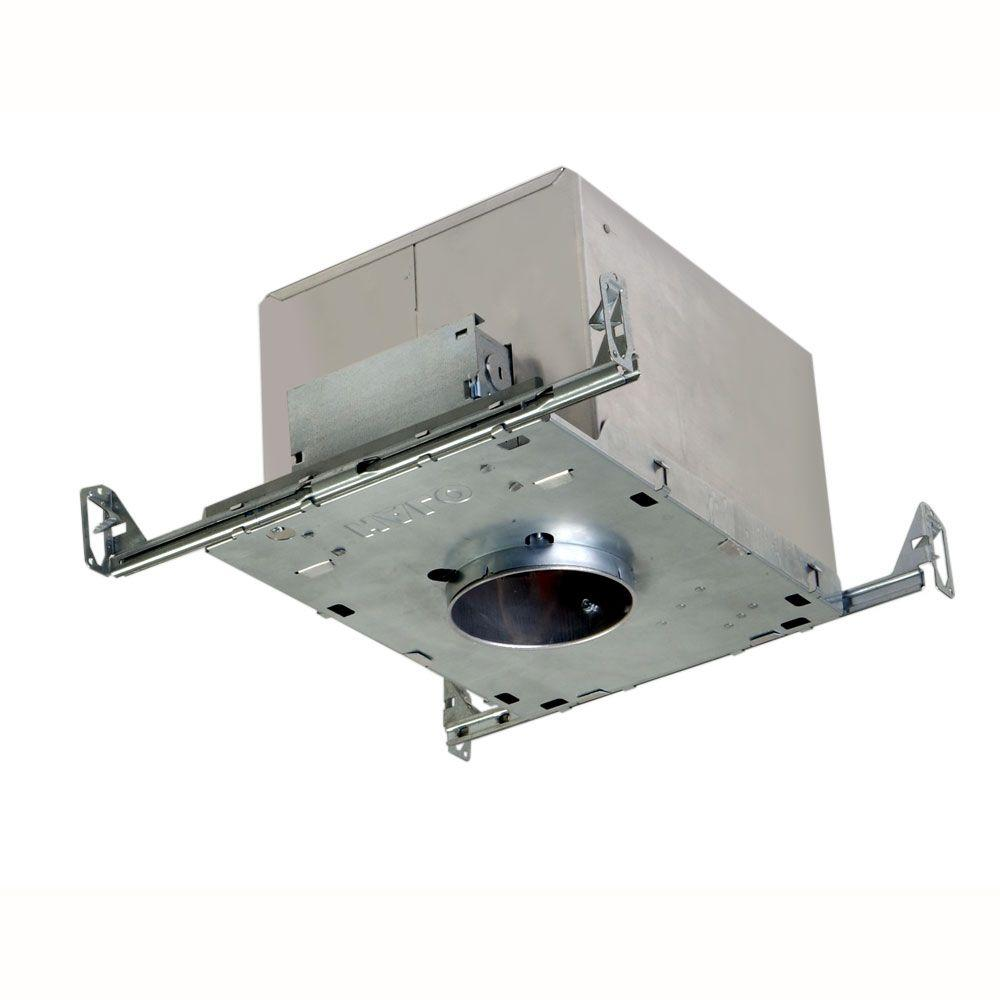 H1499 4 in. Aluminum Recessed Lighting Housing for New Construction Ceiling,