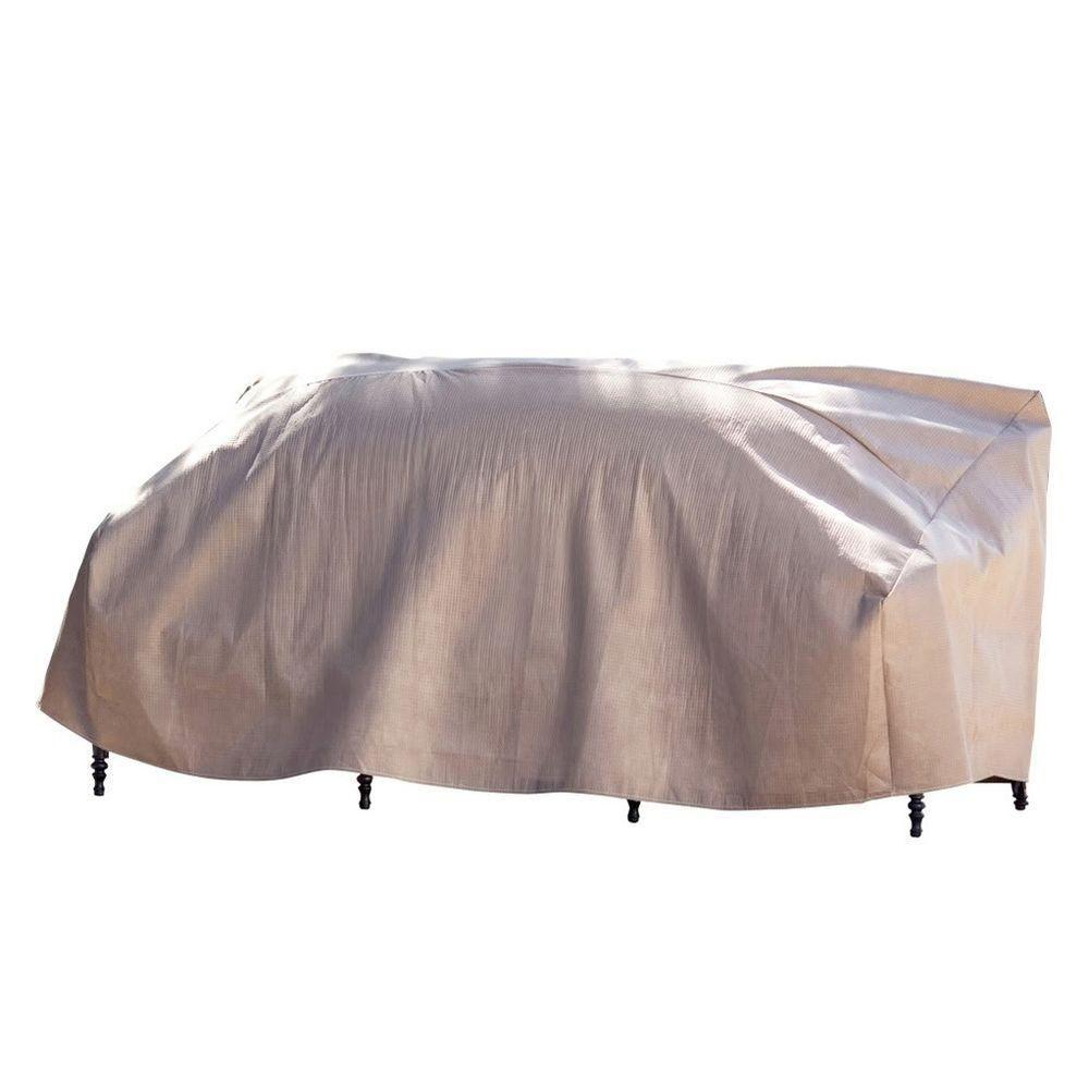 Duck Covers Elite 87 in. W Patio Sofa Cover with Inflatable Airbag to Prevent Pooling