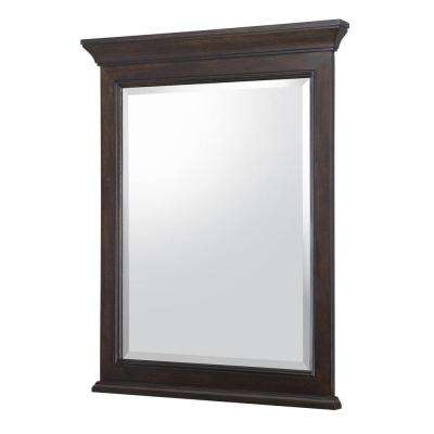 Moorpark 24 in. W x 31 in. H Single Wall Hung Mirror in Burnished Walnut