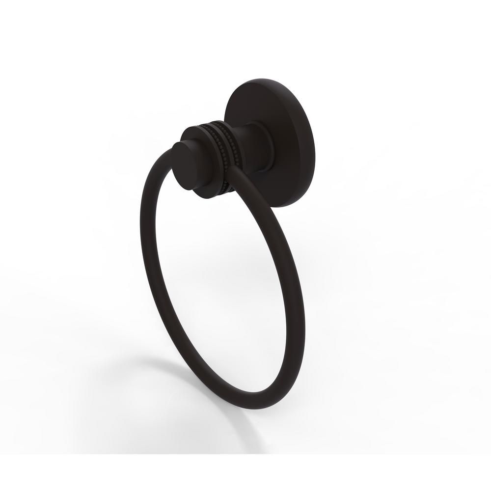 Mercury Collection Towel Ring with Dotted Accent in Oil Rubbed Bronze
