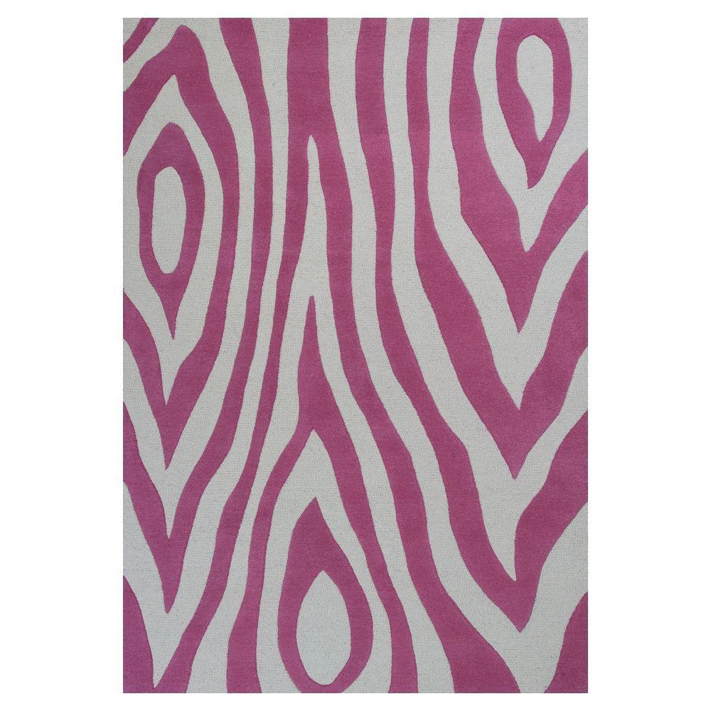 Kas Rugs Wild Play Pink 5 ft. x 7 ft. 6 in. Area Rug