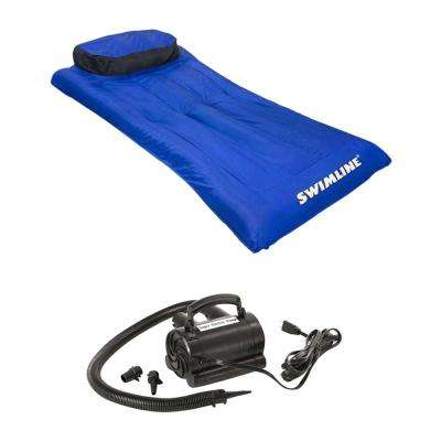 New Pool Inflatable Fabric Covered Mattress with 110-Volt Air Pump