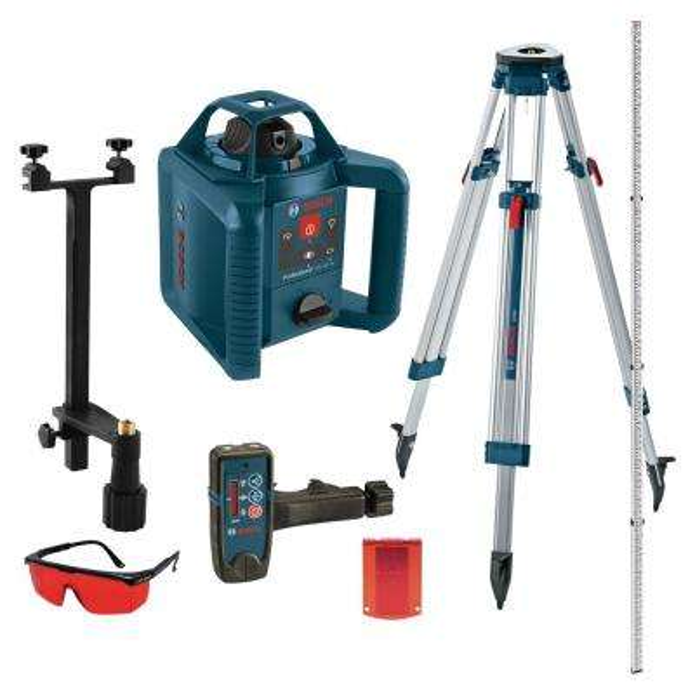 800 ft. Self Leveling Rotary Laser Level Kit (5 Piece)