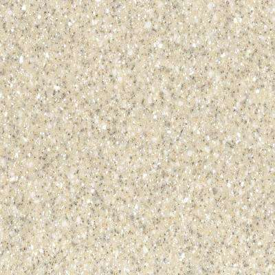 2 in. x 2 in. Solid Surface Countertop Sample in Sahara
