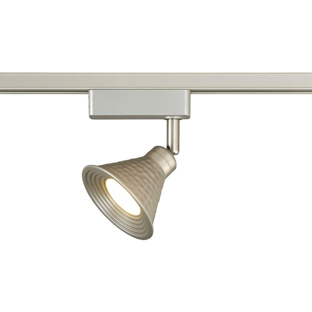 LED Brushed Nickel Hammered Shade Linear Track Lighting Head