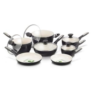 GreenPan Rio Ceramic Nonstick 12-Piece Cookware Set by GreenPan