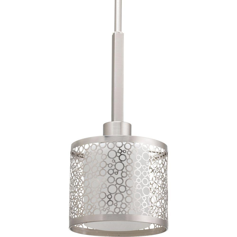 Progress Lighting Mingle Collection 1-Light Brushed Nickel Mini Pendant with Etched Parchment Glass-P5038-09 - The Home Depot  sc 1 st  The Home Depot & Progress Lighting Mingle Collection 1-Light Brushed Nickel Mini ... azcodes.com