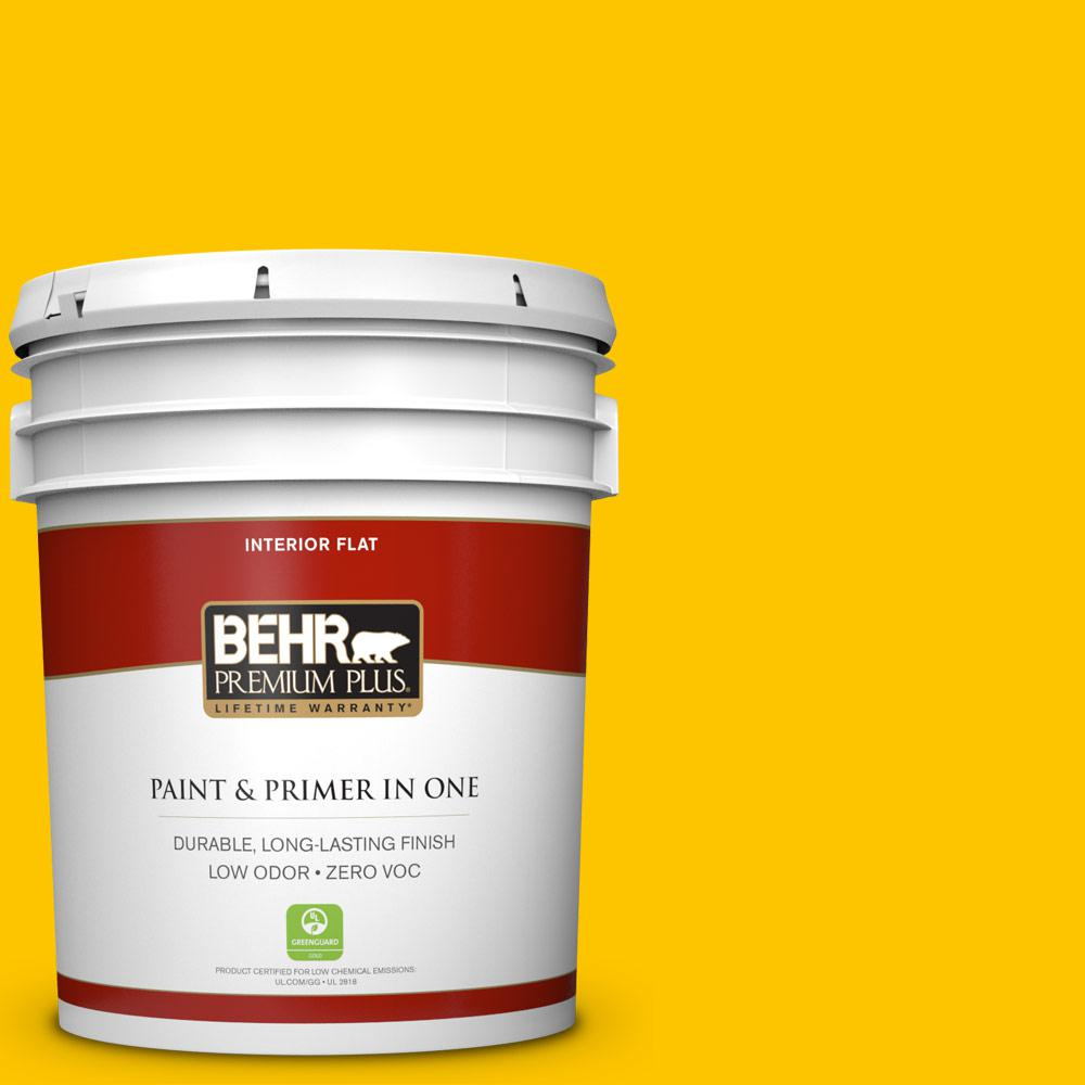 5 gal. #S-G-370 Citrus Splash Zero VOC Flat Interior Paint