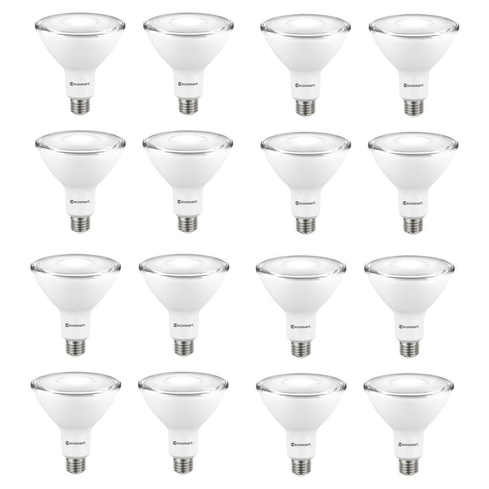 90-Watt Equivalent PAR38 Non-Dimmable Flood LED Light Bulb Bright White (16-Pack)