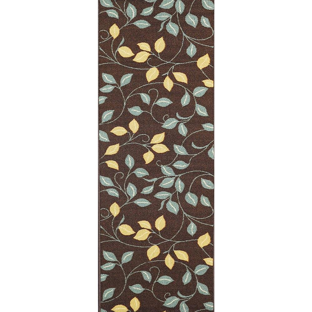MAXY HOME Hamam Collection Brown 2 ft. x 5 ft. Runner Rug