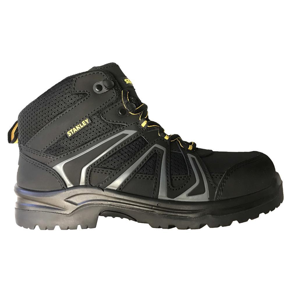 Pro Lite Hiker Mid Men Size 8 Black Leather/Mesh Steel Toe Work Boot