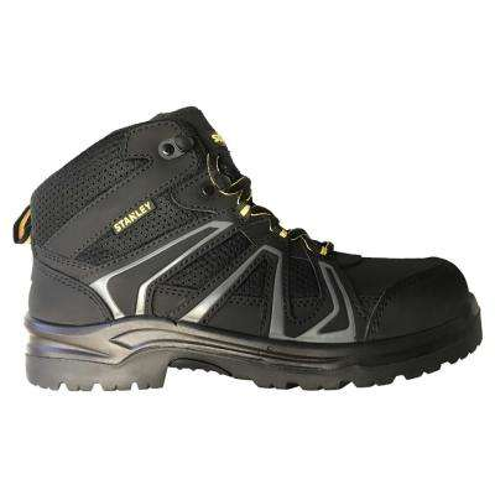 Pro Lite Hiker Mid Men Size 10 Black Leather/Mesh Steel Toe Work Boot