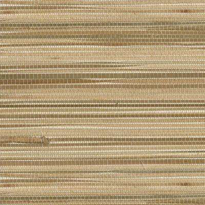 Dazo Neutral Grasscloth Wallpaper Sample
