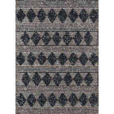 Andes Charcoal 7 ft. 9 in. X 9 ft. 9 in. Indoor Area Rug