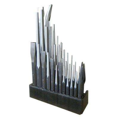 Punch and Chisel Set in Natural with Display Board (36-Piece)