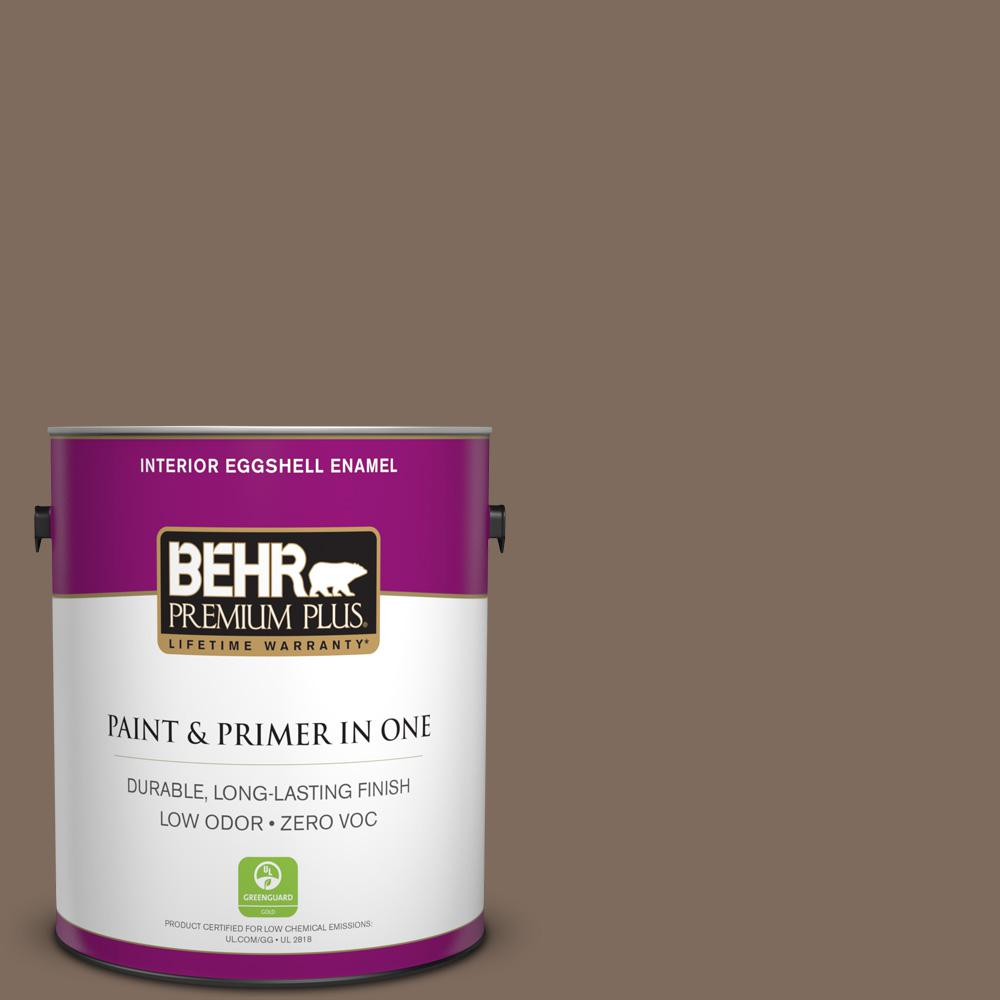 1 gal. #PPU5-03 Antique Earth Zero VOC Eggshell Enamel Interior Paint