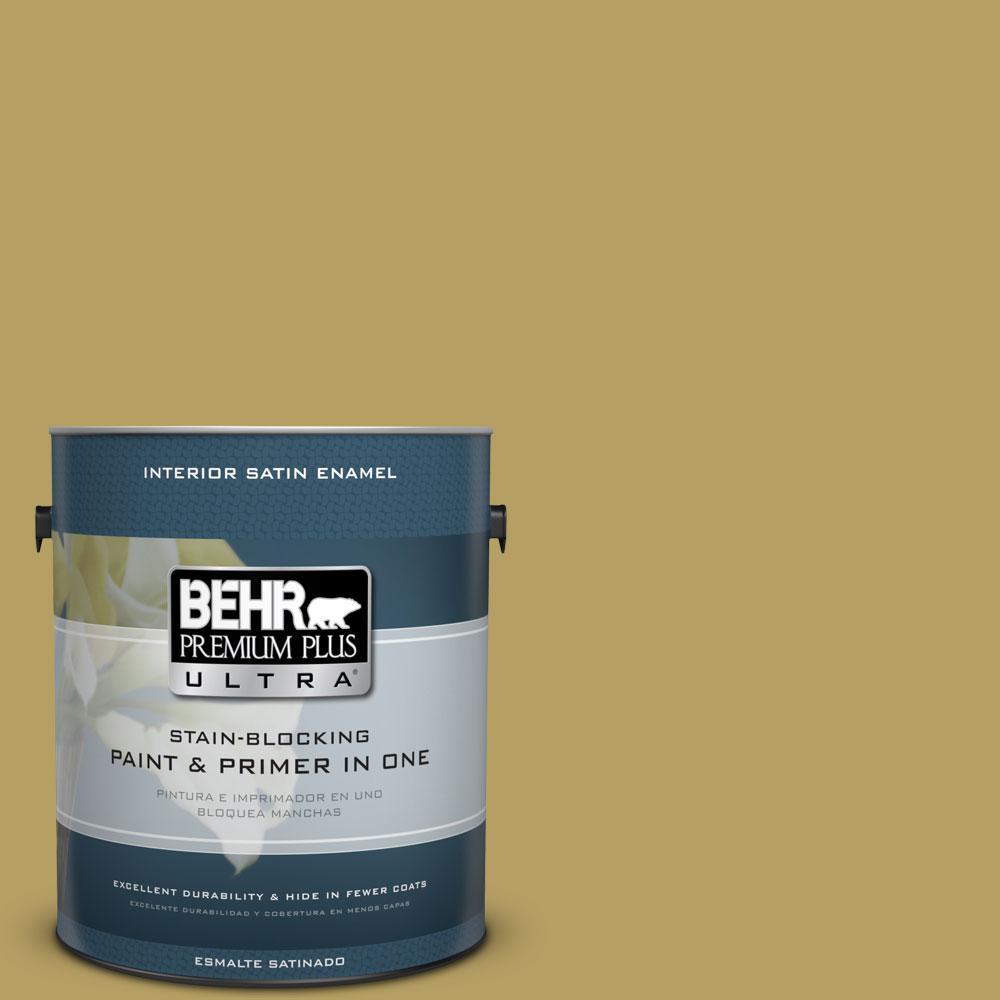 BEHR Premium Plus Ultra Home Decorators Collection 1-gal. #HDC-CL-19 Apple Wine Satin Enamel Interior Paint