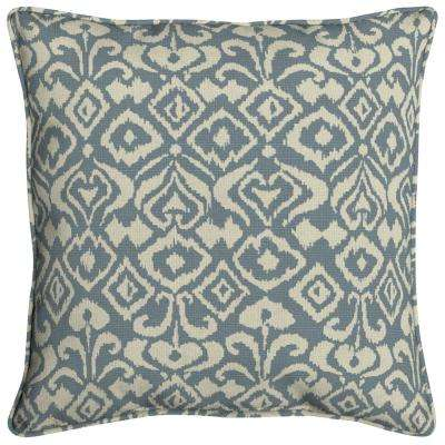 Sunbrella Spades Denim Square Outdoor Throw Pillow (2-Pack)