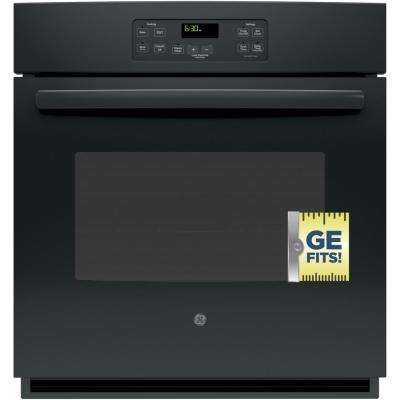 27 in. Single Electric Wall Oven Standard Cleaning with Steam in Black