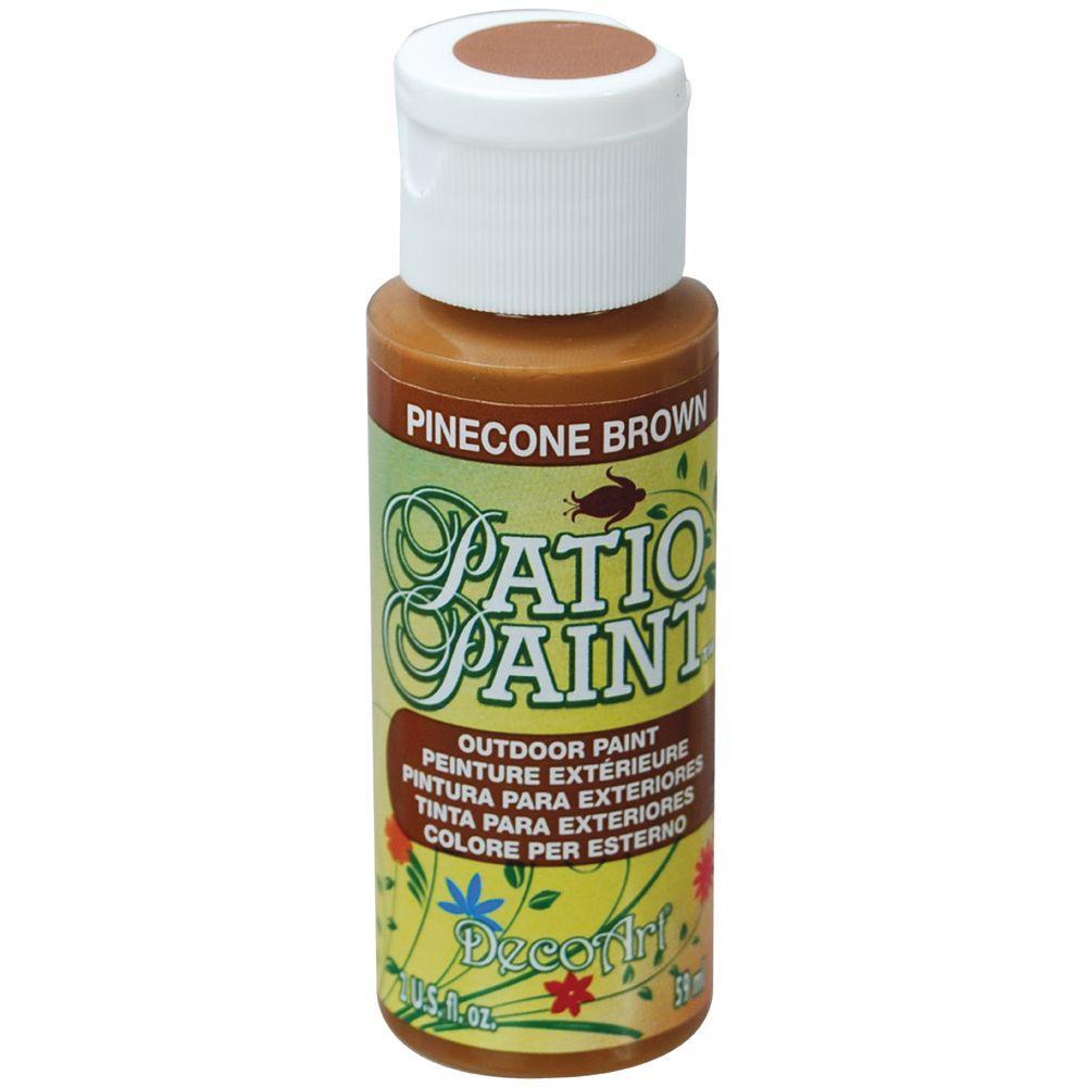 2 oz. Patio Pinecone Brown Acrylic Paint
