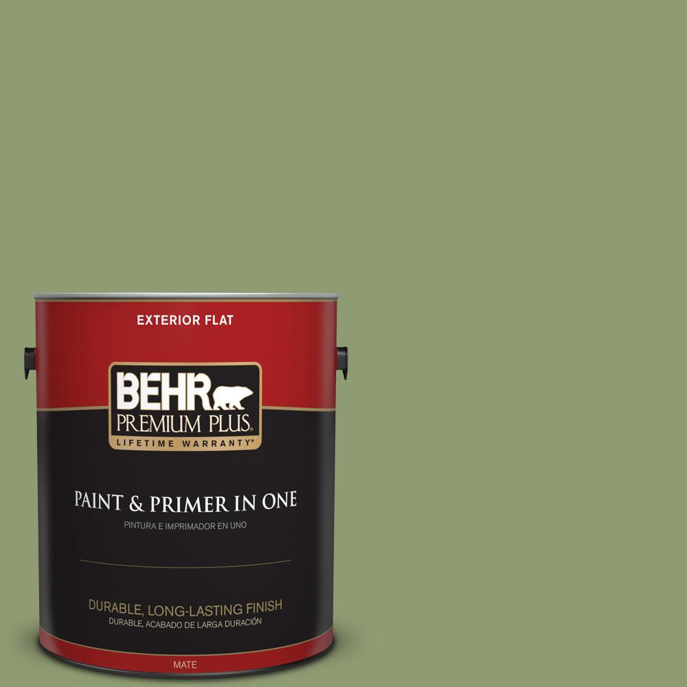 1 gal. #PPU11-04 Alamosa Green Flat Exterior Paint