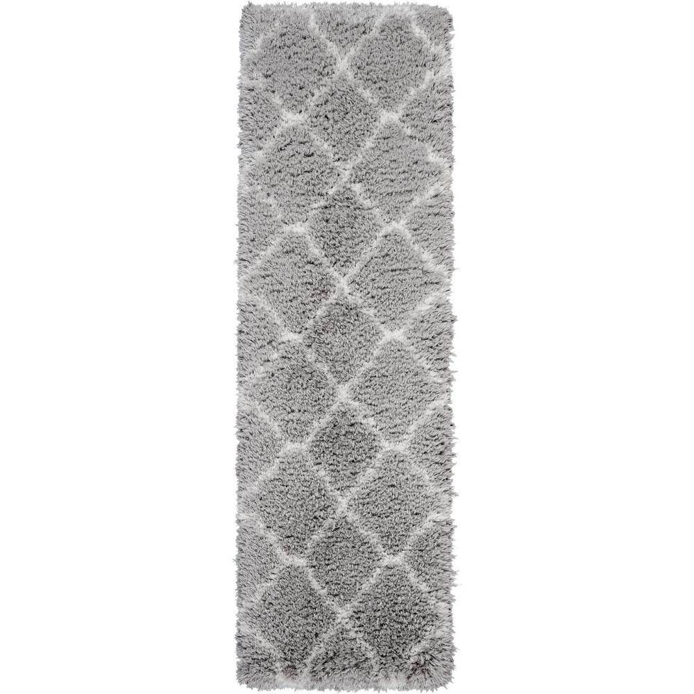 Ultra Plush Shag 8' Runner Grey Plush Area Rug