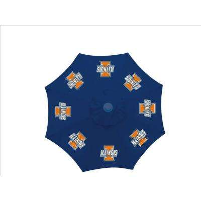 9 ft. University of Illinois Blue Patio Umbrella