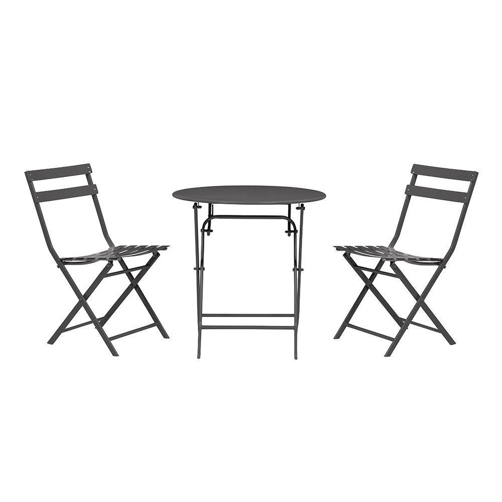 Home Decorators Collection Follie 3-Piece Outdoor Patio Bistro Set (Black)