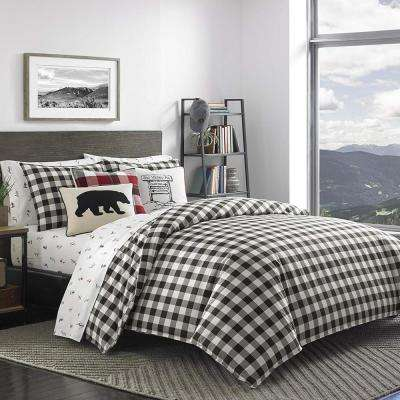 Mountain 3-Piece Black King Duvet Cover Set