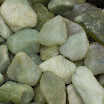 0.4 cu. ft., 1 in. to 1.5 in. Green Jade Polished Pebbles (30-Pack Pallet)