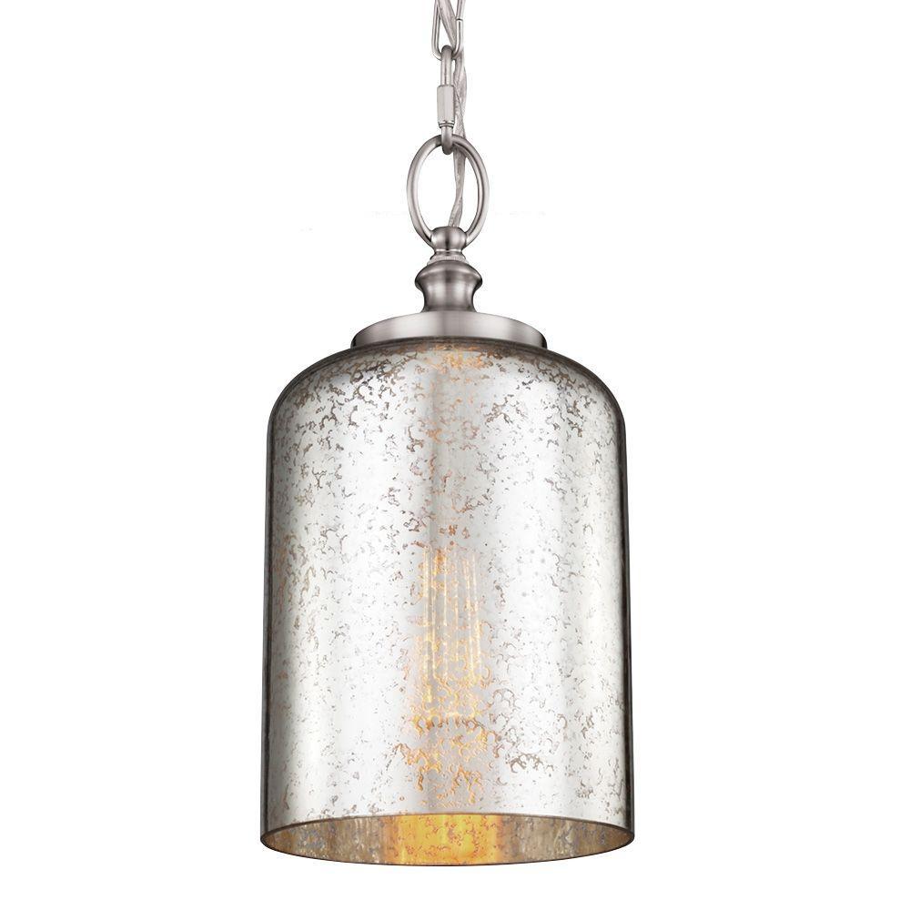 Feiss Hounslow 1-Light Brushed Steel Mini Pendant