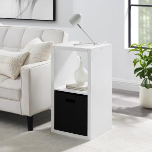 Dillon White 2-Cubby Storage Cabinet