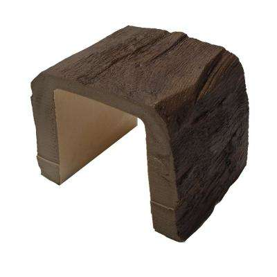 7-1/2 in. x 6-5/8 in. x 6 in. Long Faux Wood Beam Sample