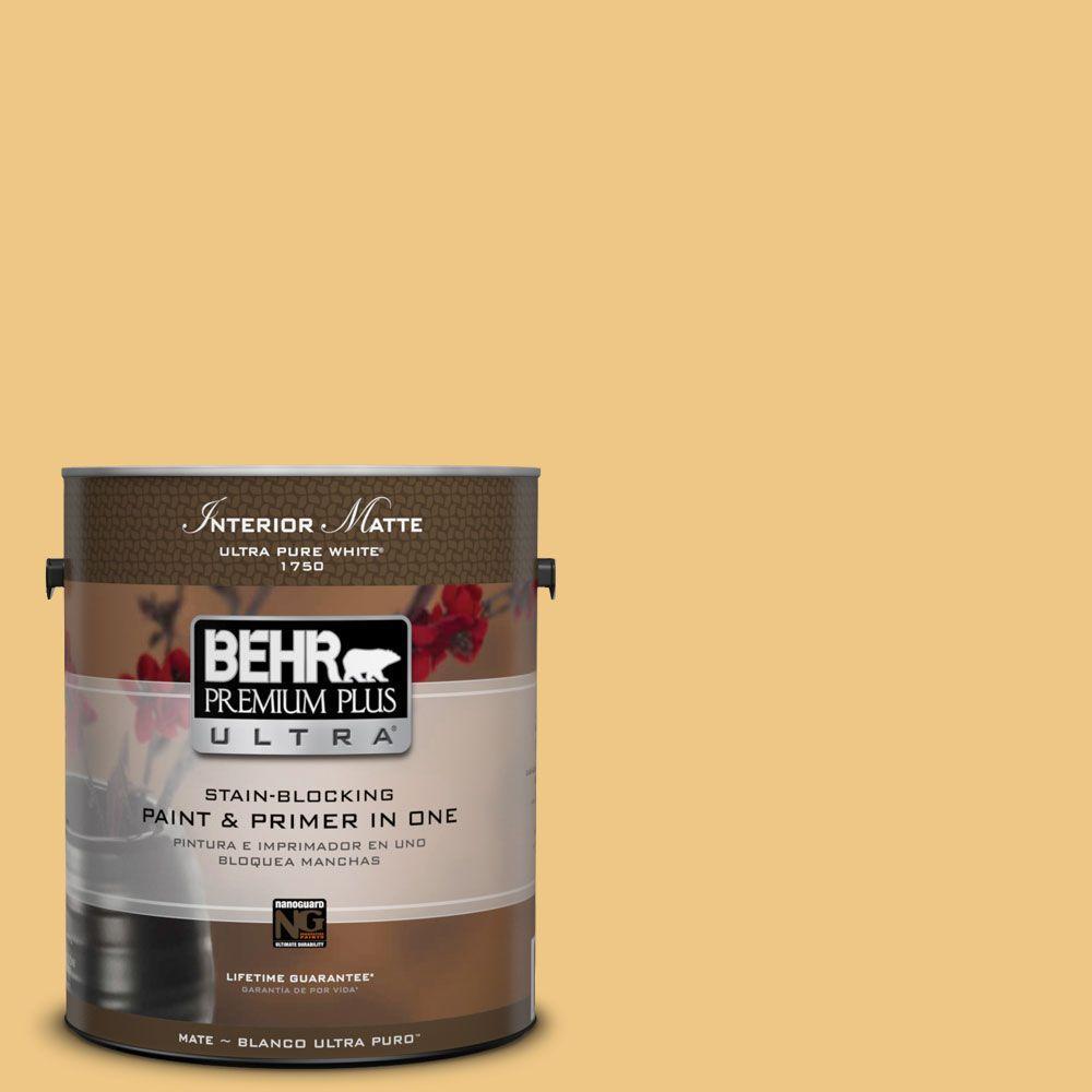 1 gal. #M290-4 Garbanzo Paste Matte Interior Paint