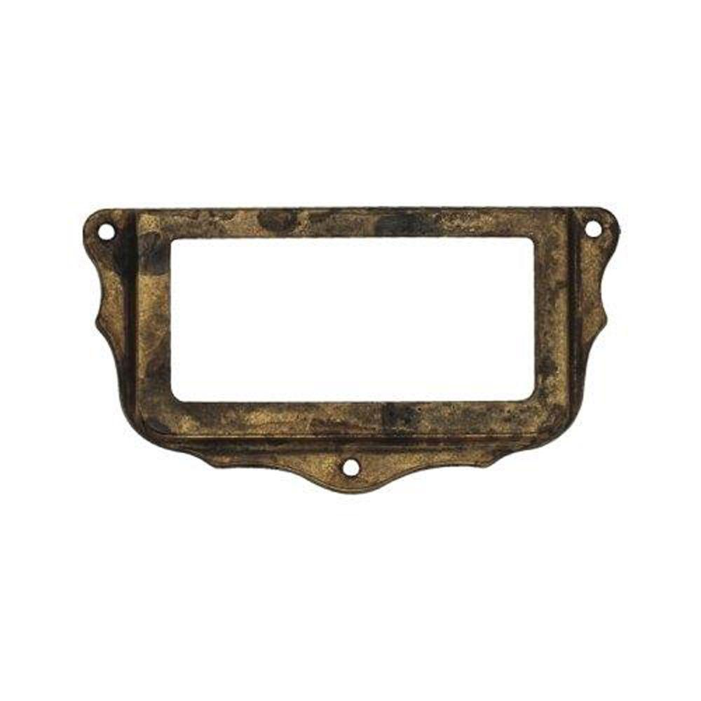 2.96 in. Antique Brass Distressed Card Holder