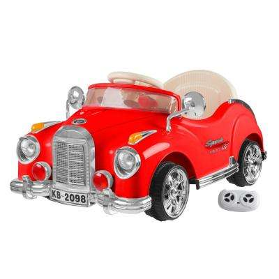 Battery Powered Red Classic Car Coupe Ride on Toy with Remote