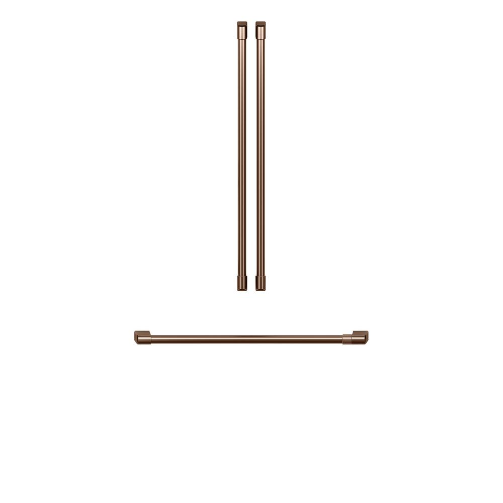 Cafe Refrigerator Handle Kit In Brushed Copper